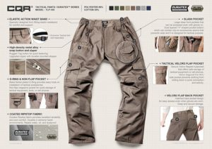 CQR Tactical and Hunting Pants Details